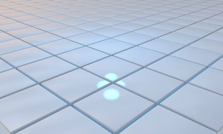 specular: Specular blue floor of background, 3d render