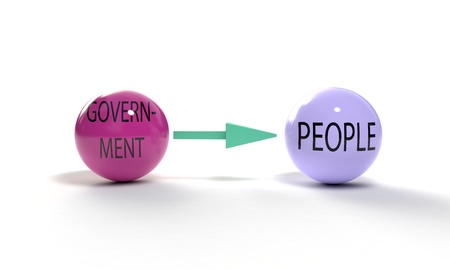 Goverment and people concept, 3d render Stock fotó