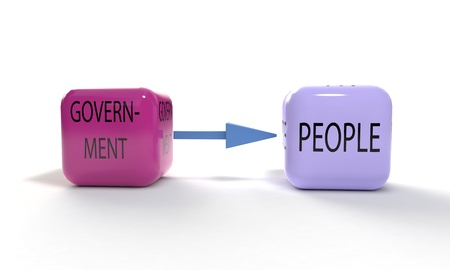 Goverment and people symbole, 3d render Stock Photo