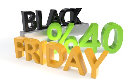Black Friday discount of forty percent, 3d render Stock Photo