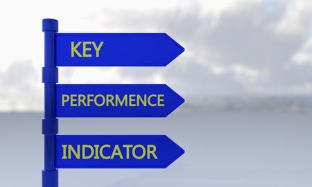 KPI (key,performence,indicator) sign 3d render