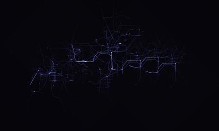 Techno electric lightning photography working Stockfoto