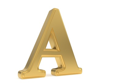 A gold romantic alphabet, 3d render Stock Photo
