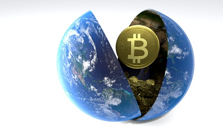The accumulation of days Bitcoin World, 3d render