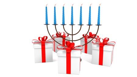Happy hanukkah of background, 3d rendering Stock Photo
