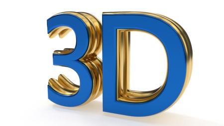 3D symbols gold writing background work, 3d rendering