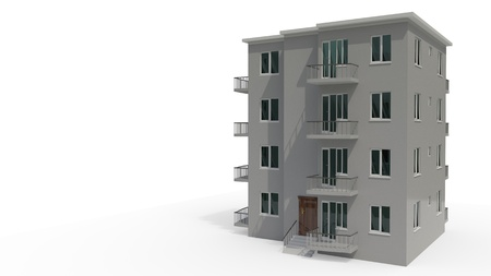 An architectural project thats under construction, 3d render Stock Photo