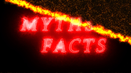 Myths and Facts fever and comprising particles background