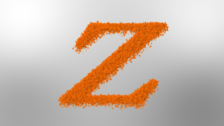 Cloud effect alphabets, letter Z