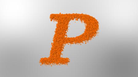 Cloud effect alphabets, letter P