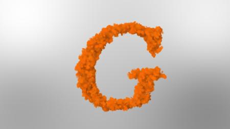 Cloud effect alphabets, letter G