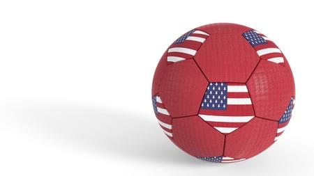 American soccer world championship concept, 3d render