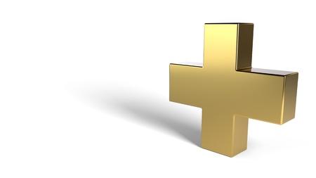 Medicine symbol on a white background, 3d render Imagens