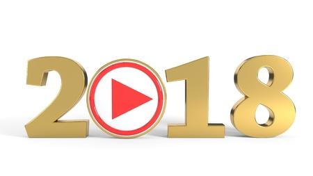 2018 concept video backgrounds, 3d render Imagens