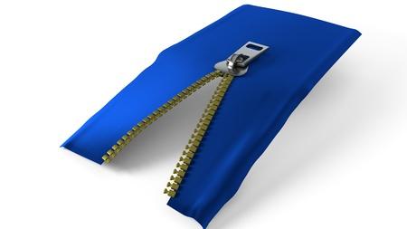Fabric fastener study, 3d render