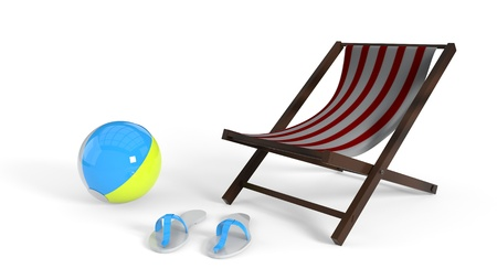 Summer background with the concept of goods, 3d render