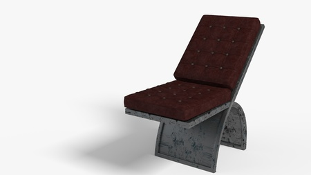 Worn leather seats of background, 3d render