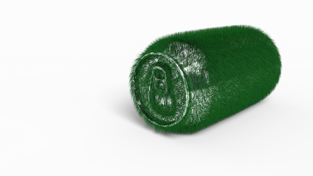 Beverage cans of germinated background, 3d rendering