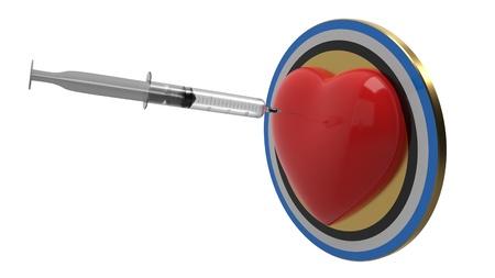 Health concept targets, 3d render