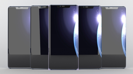 Mobile Phone of background , 3d render