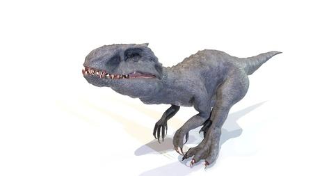 indominus rex walk of backgorund, 3d rendering Imagens