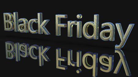 Black Friday of background,3d render