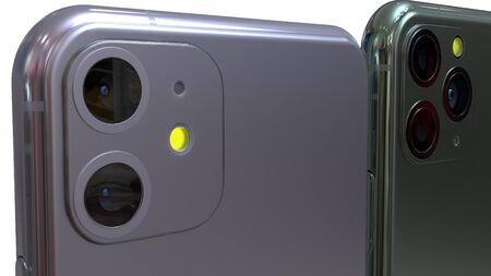 Mobil phone realistic 3d model, of backgrounds. 3d render Imagens