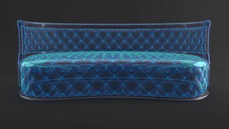 Modern luxury upholstered furniture of background, 3d render