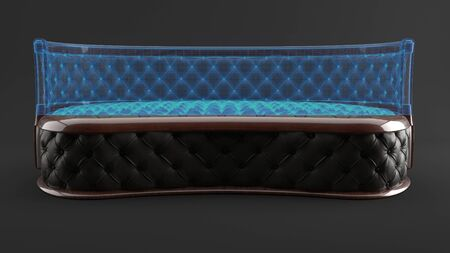 Modern luxury upholstered furniture of background, 3d render Imagens - 132043025