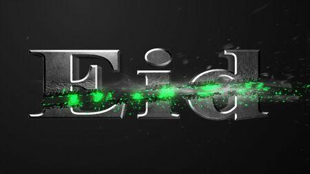 Crossfire Effects eid on dark backgorund, 3D Rendering Imagens
