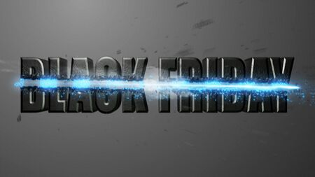 Crossfire Effects BLACK FRIDAY on dark backgorund, 3D Render Imagens - 132115049