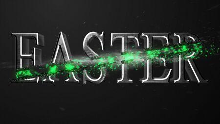 Crossfire Effects Easter on dark backgorund, 3D Render Imagens