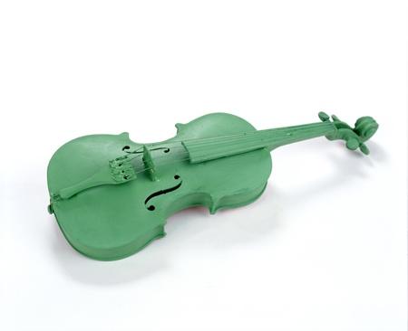 green violin Stock Photo