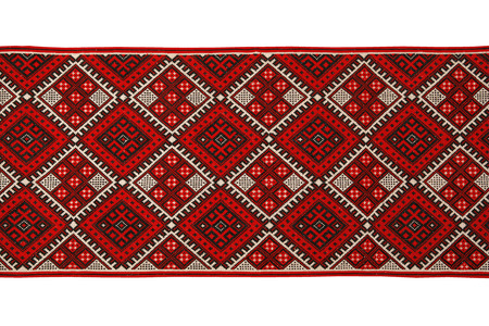 embroidered by cross-stitch pattern  ukrainian ethnic ornament