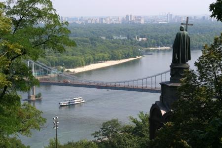View from Vladimirskaya Hill in Kiev