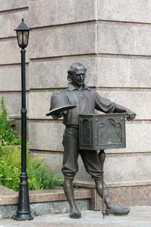 Kiev  Sculpture of Pope Carlo near Puppet Theatre photo