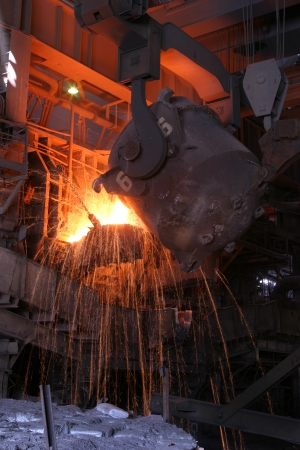 foundry: smelting of the metal in the foundry