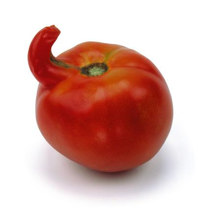 unusual tomato isolated on white background Stock Photo