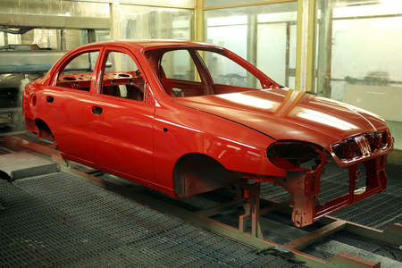 paintjob: A newly painted carbody