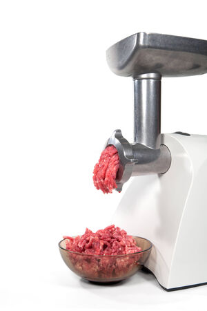 Mincer machine with fresh chopped meat