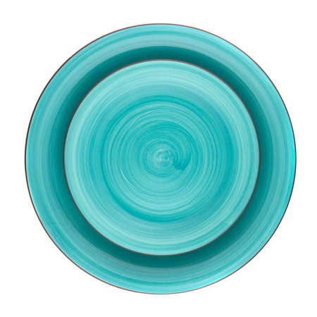 two on top: two green dish top view