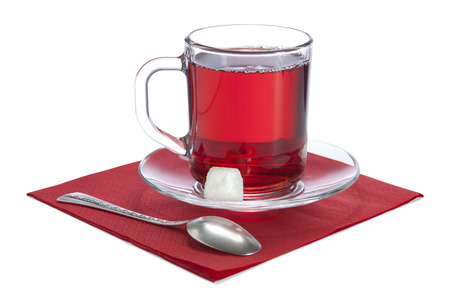 reflectance: glass cup with red tea