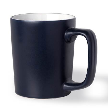 dark blue cup on a white background