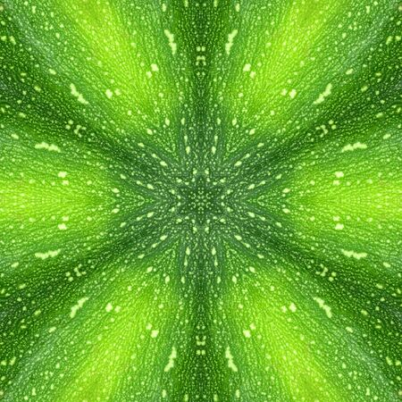 Decorative panel of peel zucchini in the form of a kaleidoscope