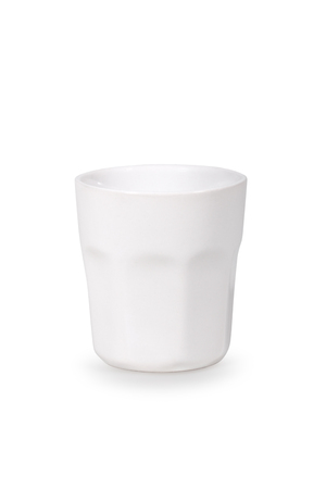 Glassful of white color on a white background Stock Photo