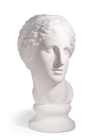 Gypsum head of the Ancient Rome man on a white background