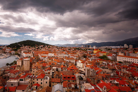 View from the top of the old town of Split in Croatia Stock Photo
