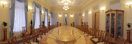 Panorama of the hall of the parliament of Ukraine