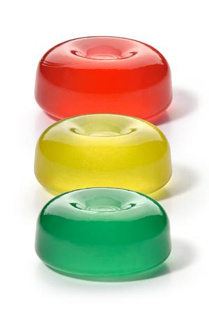 Three colorful fruit hard fruit caramel