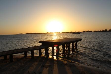 Sunset in the Senegal Delta Foto de archivo - 110166959